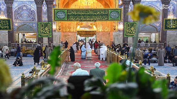عراق| گُلآرایی مرقد مطهر امام علی(ع) در آستانه ولادت با سعادت حضرت زهرا(ع)