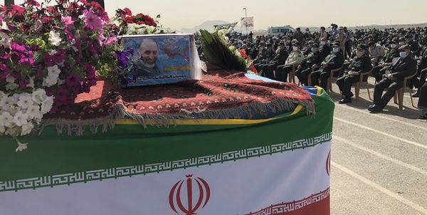 Funeral Ceremony of IRGC Qods Force Deputy Commander Held in Central Iran